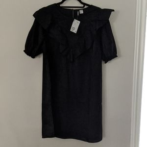 Ruffled Black H&M Dress